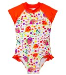 SnapMe Girls' Lucy Fish S/S Ruffle One Piece (6mos-3T)