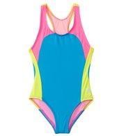 TYR Girls' Solids Splice One Piece Swimsuit (4yrs-16yrs)