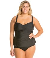 Athena Plus Size Finesse Solids Molded Cup Tankini Top