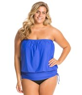 Athena Plus Size Finesse Solids Soft Cup Banded Bandini Top