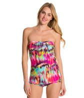 Ceeb Sunrise Bandeau Sarong One Piece Swimsuit