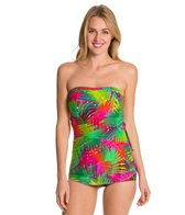 Ceeb Tropical Morning Bandeau Sarong One Piece Swimsuit