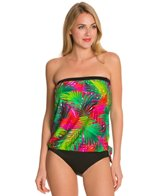 Ceeb Tropical Morning Bandeau Blouson Tankini Top