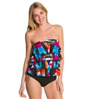 Ceeb Sunset Bandeau Ruffle Tankini Top