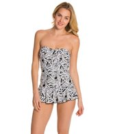 Ceeb Moonlit Palms Bandeau Skater Swimdress