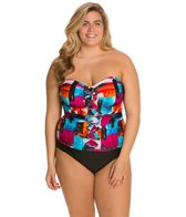 Ceeb Plus Size Sunset Bandeau One Piece Swimsuit