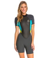 O'Neill Women's 2/1MM Bahia Short Sleeve Spring Suit Wetsuit