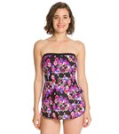 Maxine Diamond Diva Bandeau Sarong One Piece Swimsuit