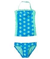 DKNY Girls' Round Up Dots Little Darling Bandeau Tankini Set (2T-4T)
