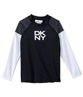 DKNY Girls' Mini Match Maker Long Sleeve Rashguard