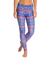 Teeki Choose Rosees Blue Yoga Leggings