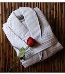 Royal Comfort 48 Bath Robe Waffle Shawl