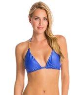 Vix Solid Blue Undersea Tri Detail Bikini Top (D-Cup)