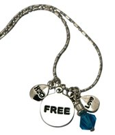 Totally Stroked Silver 'Free' Necklace