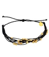 Pura Vida Gold Beaded Black Bracelet