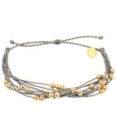 Pura Vida Gold Beaded Grey Bracelet