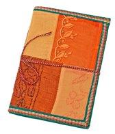 Homeport Textile Notebook Orange, Large