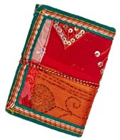 Homeport Textile Notebook Red, Small