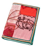 Homeport Textile Notebook Red, Large