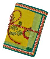 Homeport Textile Notebook Green, Small