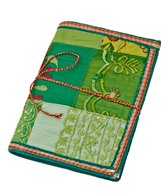 Homeport Textile Notebook Green, Large