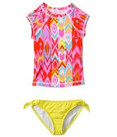 Billabong Radiant Heartbeats Ikat S/S Rashguard Set (4yrs-6X)