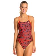 Nike Swimoutlet Exclusive Bright Crimson Speed Cut Out Tank One Piece Swimsuit