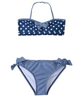 Jantzen Girls' Set Sail Polka Dot & Stripe Bikini Two Piece Set (7yrs-16yrs)