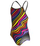 Sporti Whirl Thin Strap Swimsuit Youth