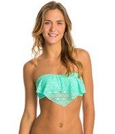 Hot Water Sweet Breeze Bandeau Flounce Bikini Top