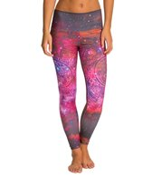 Om Shanti Clothing Pink Galaxy Aztec Cluster Performance Legging