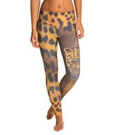Om Shanti Clothing Leopard Half Skin Yoga Leggings
