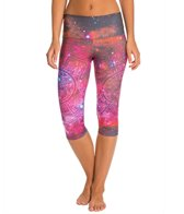 Om Shanti Clothing Pink Galaxy Aztec Cluster Performance Capri