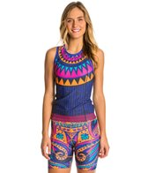 Triflare Women's Orange Medallion Triathlon Top