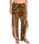 Indah Val Printed Petal Split Drawstring Cover Up Pant