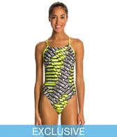 SwimOutlet Exclusive Nike Energy Cut Out Tank One Piece Swimsuit
