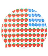 Sporti Berry Flag Silicone Swim Cap