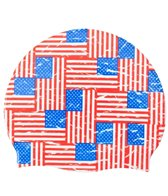 Sporti Flags on Flags Silicone Swim Cap