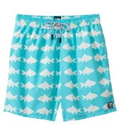 Tom & Teddy Blue & White Fish Swim Trunk