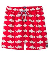 Tom & Teddy Red & White Fish Swim Trunk