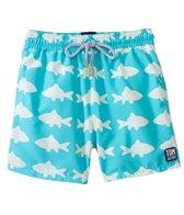 Tom & Teddy Blue & White Fish Swim Trunks (12mos-12yrs)