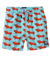 Tom & Teddy Blue & Orange Airplane Swim Trunks (12mos-12yrs)