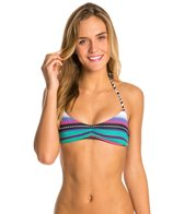 Roxy Livin Free Reversible Halter Triangle Top