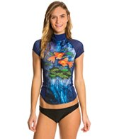 Girls4Sport Women's Pisces S/S Rashguard with Shelf Bra