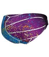 Keel Men's Splash ON Violet Water Polo Brief