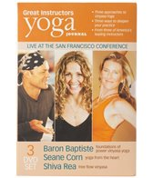 Yoga Journal Great Instructors 3 PK DVD (Baron Baptiste, Shiva Rea, Seane Corn)