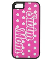 Bay Six Swim Mom Dotted Pink iPhone Phone Case
