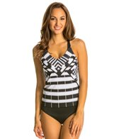 Jag African Palace Crisscross Back Tankini Top