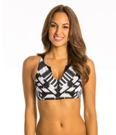 Jag African Palace Racerback Zip Front Bra Top