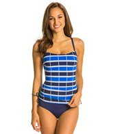 Jag Ipanema Stripe Floating Underwire Tankini Top (D/DD Cup)